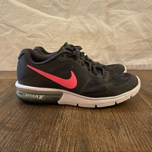 Nike Womens Air Max Sequent (719916-016) Gray Pink Lace Up Running Shoes Sz 6.5